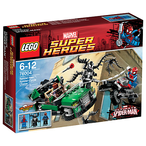 Buy LEGO Super Heroes: Spider-Man, Spider-Cycle Chase Online at johnlewis.com