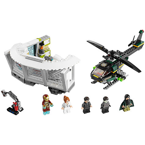 Buy LEGO Super Heroes Iron Man Malibu Mansion Attack Online at johnlewis.com