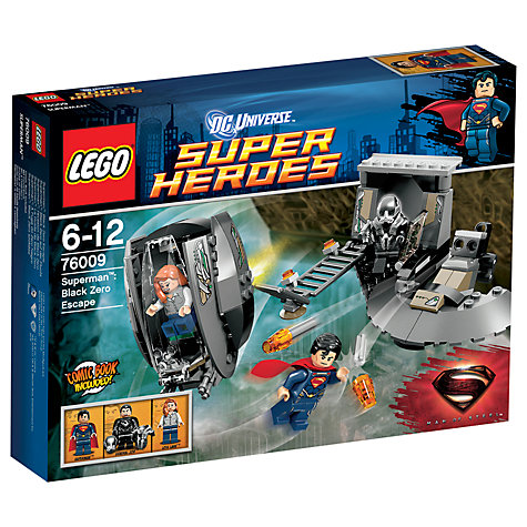 Buy LEGO Super Heroes Superman Black Zero Escape Set Online at johnlewis.com