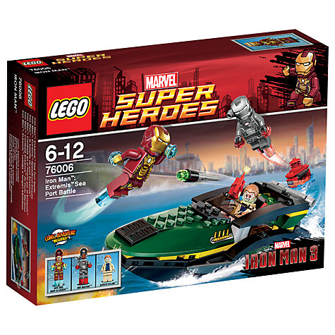 Buy LEGO Super Heroes Iron Man Extremis Sea Port Battle Online at johnlewis.com