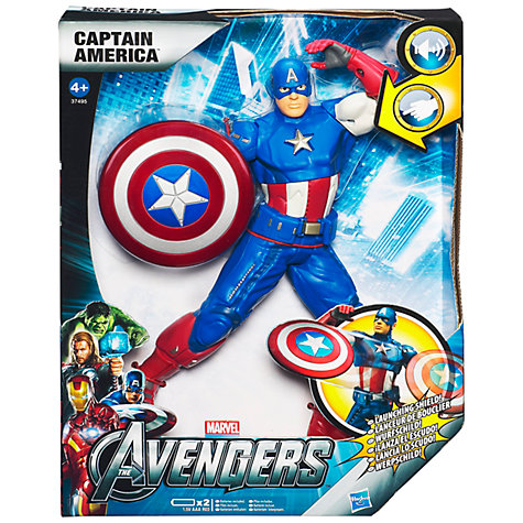 "Buy Marvel The Avengers 10"" Figure, Captain America Online at johnlewis.com"