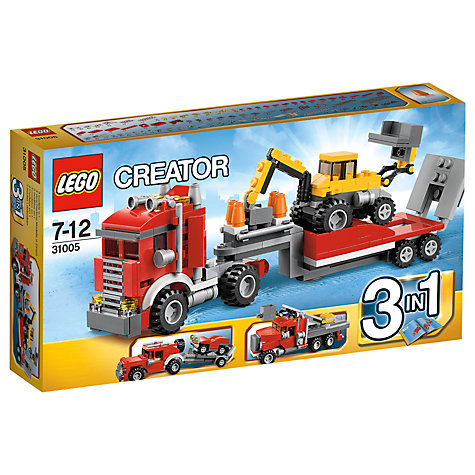 Buy LEGO Creator 3-in-1 Construction Hauler Online at johnlewis.com