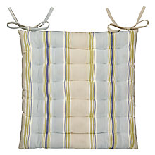 Buy John Lewis Botanist Stripe Seat Pad Online at johnlewis.com