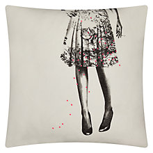 Buy La Cerise Sur Le Gateau Alice Liberty Cushion, White Online at johnlewis.com