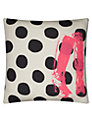 La Cerise Sur Le Gateau Boots, Dots and Caviar Cushion, Multi