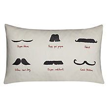 Buy La Cerise Sur Le Gateau Moustache Cushion, Multi Online at johnlewis.com