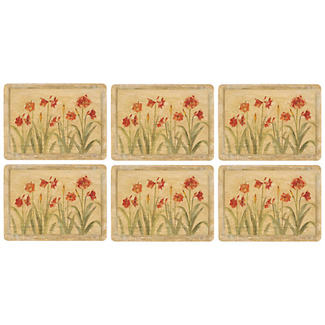 Buy Pimpernel Amaryllis Placemats, Set of 6 Online at johnlewis.com