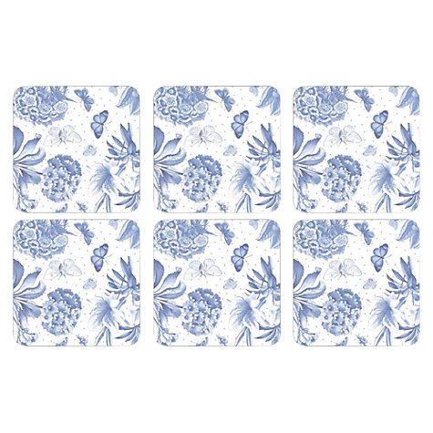 Buy Pimpernel Botanic Blue Coasters, Set of 6 Online at johnlewis.com