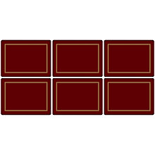 Buy Pimpernel Classic Placemats, Set of 6, Burgundy/Gold Online at johnlewis.com