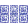 Pimpernel Blue Italian Coasters, Set of 6