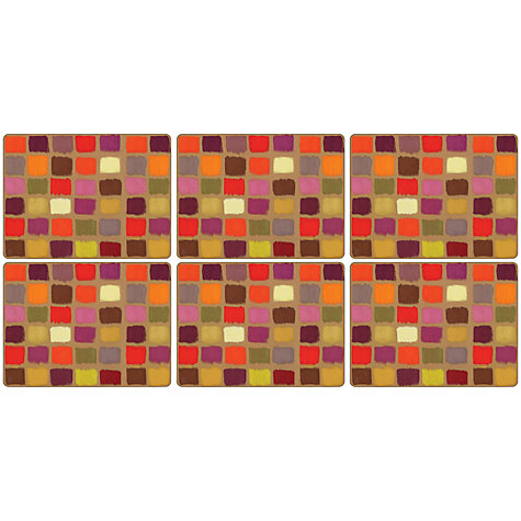 Buy Pimpernel Harlequin Placemats, Set of 6 Online at johnlewis.com
