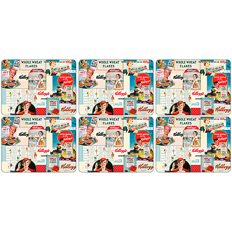 Buy Pimpernel Vintage Kellogg's Placemats, Set of 6 Online at johnlewis.com