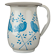 Buy Nkuku Lolita Hand Painted Jug, Cream/blue Online at johnlewis.com