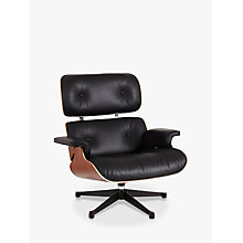Buy Vitra Eames Lounge Chair, Black/ Pallisander Shell Online at johnlewis.com
