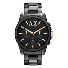 Buy Armani Exchange AX2094 Men's Steel Bracelet Strap Watch, Black Online at johnlewis.com