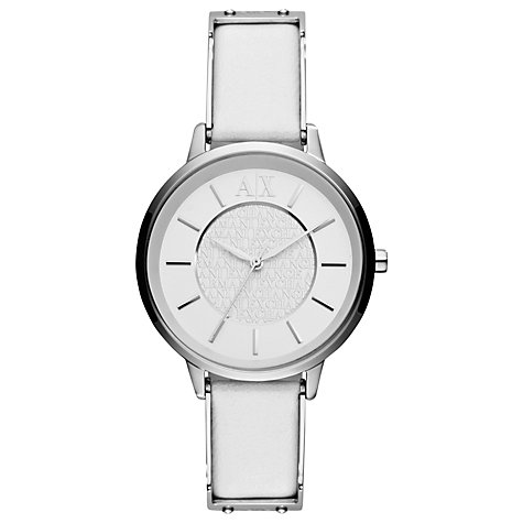 Buy Armani Exchange Women's Smart Leather Strap Watch Online at johnlewis.com