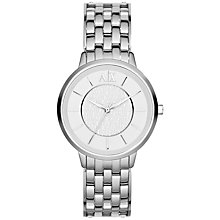 Buy Armani Exchange AX5306 Women's Logo Dial Bracelet Watch, Silver Online at johnlewis.com