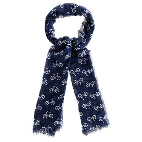Buy Oasis Bicycle Print Scarf, Navy Online at johnlewis.com