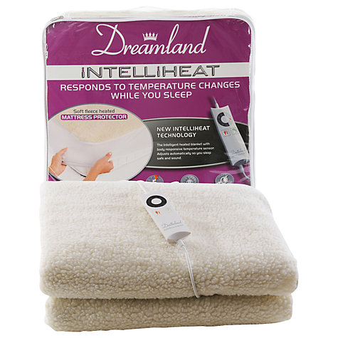 Buy Dreamland 6966 Intelliheat Electric Fleece Mattress Cover, Double Online at johnlewis.com