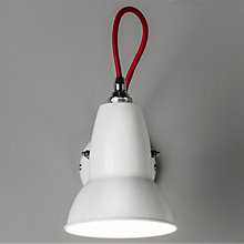 Buy Anglepoise Duo Wall Light, Alpine White with Red Braided Cable Online at johnlewis.com
