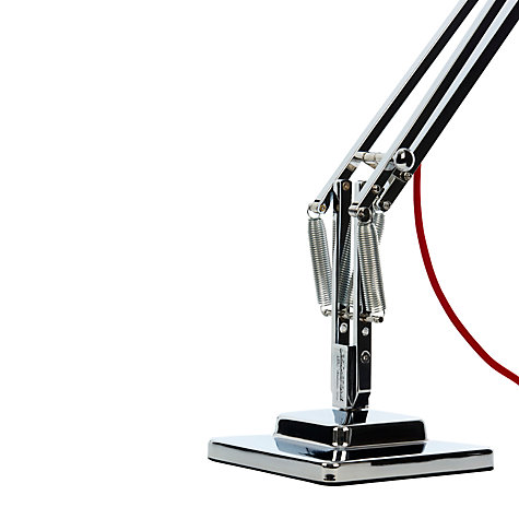 Buy Anglepoise Duo1227 Desk Lamp, Bright Chrome with Red Cable Braid Online at johnlewis.com
