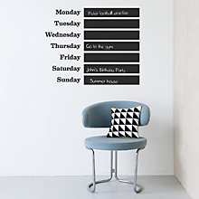 Buy ferm LIVING This Week Wall Sticker With Chalk, Black Online at johnlewis.com