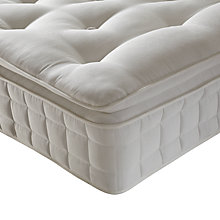 Buy John Lewis Luxury Comfort Wool Pillowtop Mattress, Single Online at johnlewis.com