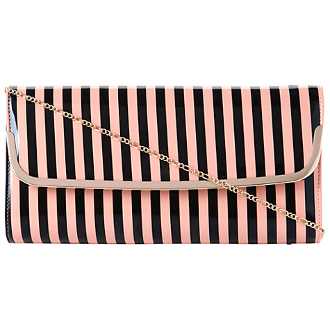 Buy Dune Bahamas Stripe Print Patent Clutch Handbag Online at johnlewis.com