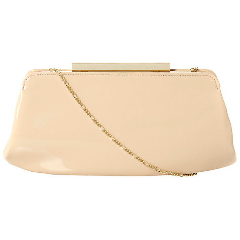 Buy Dune Bayley Patent Leather Structured Clutch Handbag Online at johnlewis.com