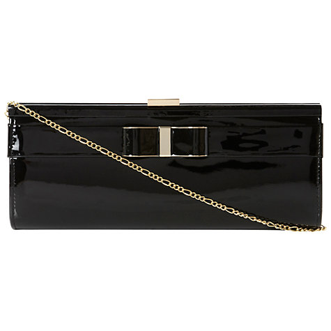 Buy Dune Barina Enamel Bow Trim Patent Leather Clutch Handbag Online at johnlewis.com