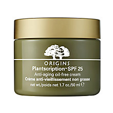 Buy Origins Plantscription™ Oil Free Face Cream SPF 25, 50ml with Free Plantscription™ Anti-Aging Cleanser, 150ml Online at johnlewis.com