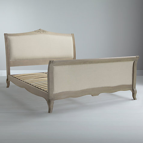 Buy Willis Gambier Camille High End Bedstead, Natural Linen, Double Online at johnlewis.com