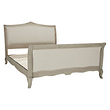 Buy Willis Gambier Camille High End Bedstead, Natural Linen, Kingsize Online at johnlewis.com
