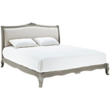 Buy Willis Gambier Camille Low End Bedstead, Natural Linen, Super Kingsize Online at johnlewis.com