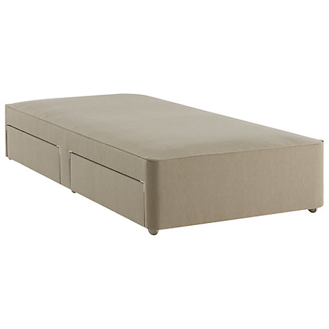Buy John Lewis True Edge Divan Base with 2 Drawers, Canvas Pebble, Single Online at johnlewis.com