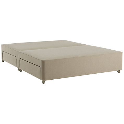 Buy John Lewis True Edge Divan Base with 4 Drawers, Canvas Pebble, Double Online at johnlewis.com