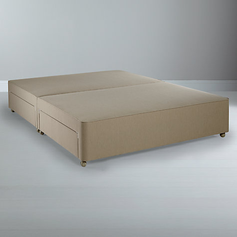 Buy John Lewis True Edge Divan Base with 4 Drawers, Canvas Pebble, Kingsize Online at johnlewis.com