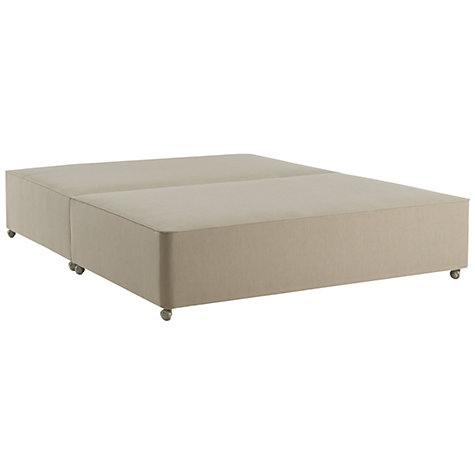 Buy John Lewis True Edge Divan Base, Canvas Pebble, Small Double Online at johnlewis.com