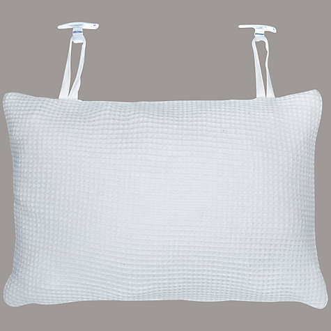 Buy John Lewis Waffle Bath Pillow, White Online at johnlewis.com