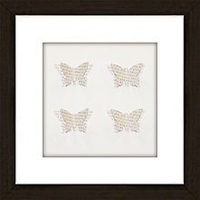 Buy Butterfly Words Framed 3D Laser Cut, 24 x 24cm Online at johnlewis.com