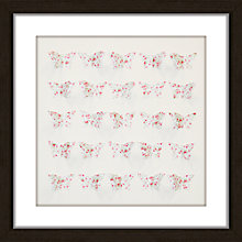 Buy Butterflies Chintz Framed 3D Laser Cut, 40 x 40cm Online at johnlewis.com
