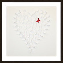 Buy Butterfly White Framed 3D Laser Cut, 60 x 60cm Online at johnlewis.com