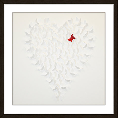 Buy Butterfly White Framed 3D Laser Cut, 62 x 62cm Online at johnlewis.com