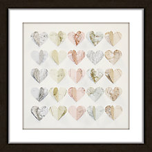 Buy Hearts Maps Framed 3D Laser Cut, 40 x 40cm Online at johnlewis.com