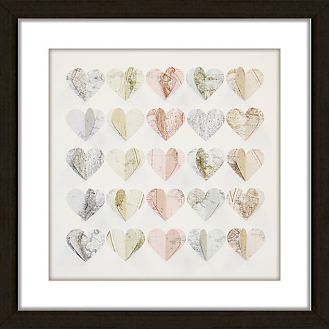 Buy Daisy Maison Hearts Maps Framed 3D Laser Cut, 41.5 x 41.5cm Online at johnlewis.com