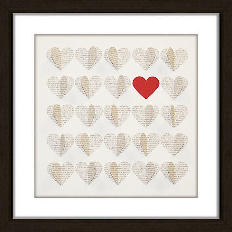 Buy Hearts Words Framed 3D Laser Cut, 41.5 x 41.5cm Online at johnlewis.com