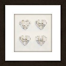 Buy Hearts Music Framed 3D Laser Cut, 24 x 24cm Online at johnlewis.com