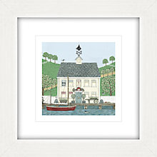 Buy Sally Swannell - Captain's House Framed Print, 37 x 37cm Online at johnlewis.com