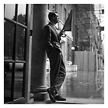Buy Getty Image Gallery Cary Grant In The Rain Print on Canvas, 40 x 40cm Online at johnlewis.com