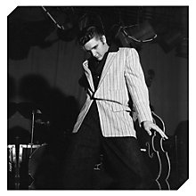 Buy Getty Images Gallery Elvis On Milton Berle Print on Canvas, 40 x 40cm Online at johnlewis.com